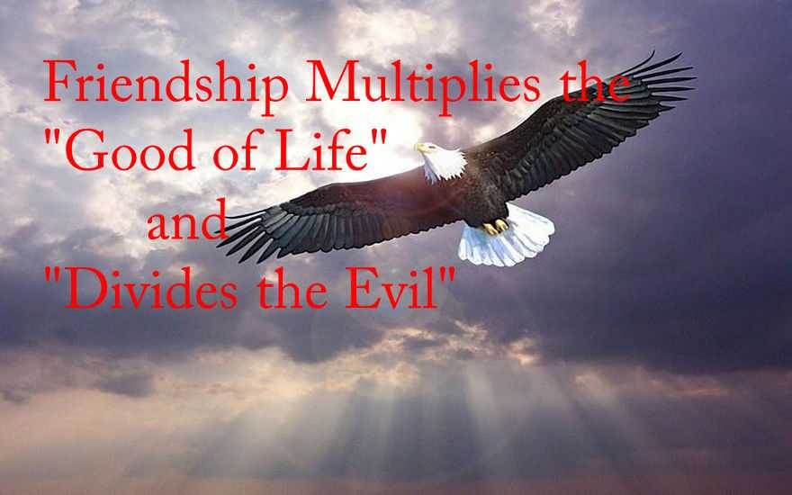 Friendship Multiplies Good of Life and Evil