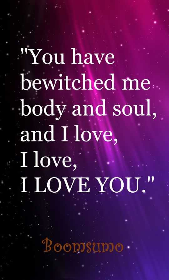 You have bewitched me - sad love Quotes