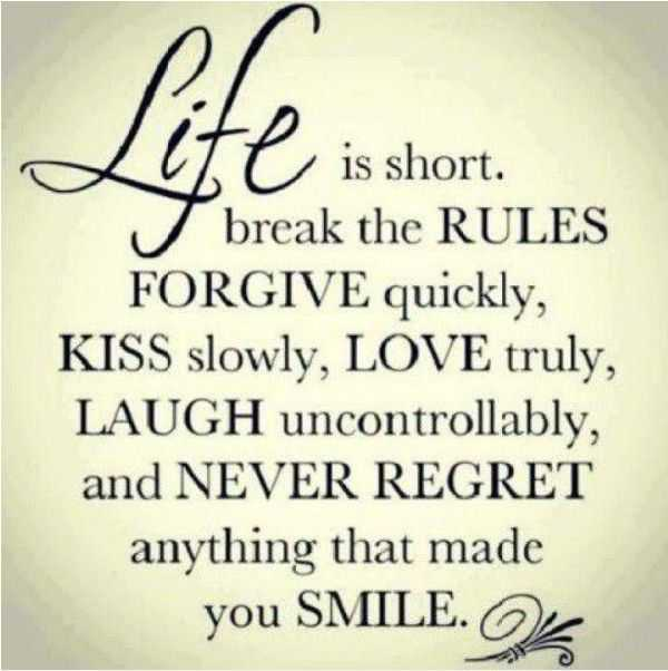 Cute Relationship Quotes Positive quotesabout life Rules Smile - Life Quotes