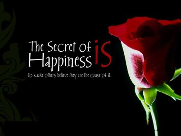 short quote about happiness the secret of believe