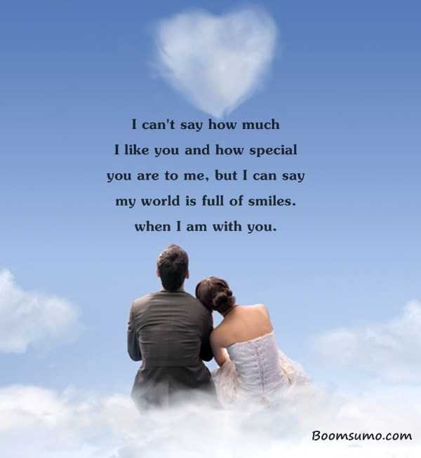 love life Quotes how much I like you and how special you are