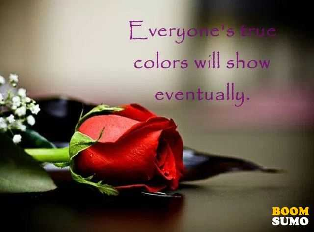 Positive Life Quotes When Everyone's True Colors