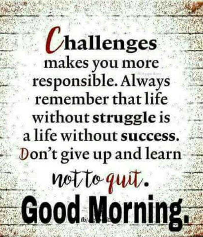 Good Morning Quotes Don\'t Give up and Learn Not to Quit ...