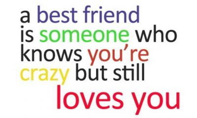 Best Friend knows, You're Crazy 1