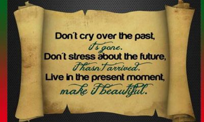 Inspirational thoughts Don't Cry over the Past about life quotes