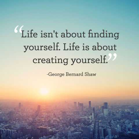 Positive life quotes inspirational life is about Creating Yourself quotes on success