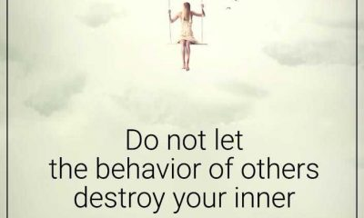 Inspirational life quotes Do not let destroy your inner peace life message