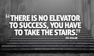Success Quotes Don't Think No Elevator to Success zig ziglar quotes