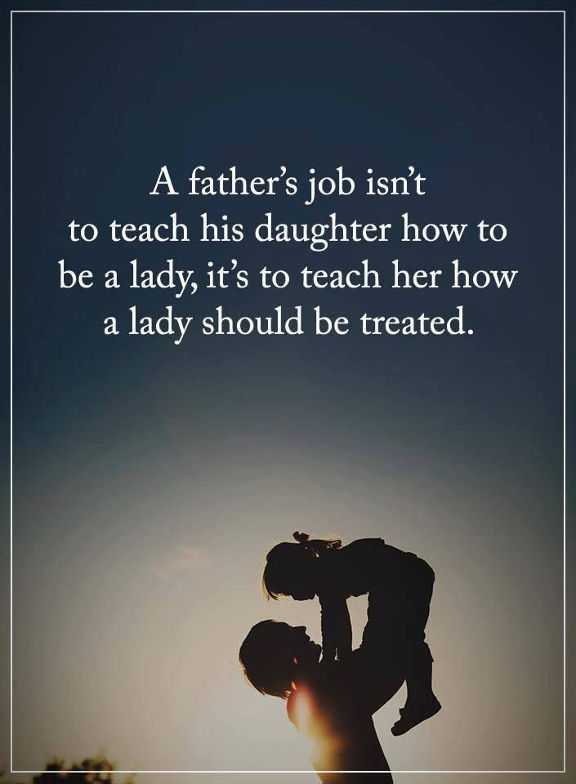 Best Fathers Day Quotes: How to be Lady should be Treated ...