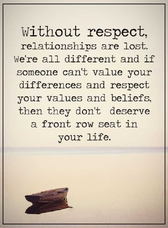 Relationship Quotes life sayings Without Respect Relationships Are Lost