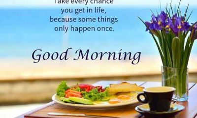 Good Morning Quotes Encourage Sayings Take Every Chance, Success It