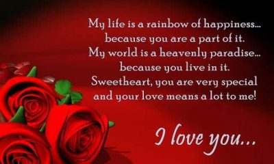 Best Love Quotes My Life Is A Rainbow Of Happiness