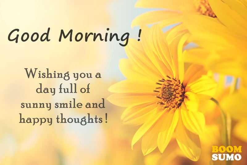 Good Morning Quotes: Awesome Day Full Of Sunny Smile And Happy Thoughts –  Boom Sumo