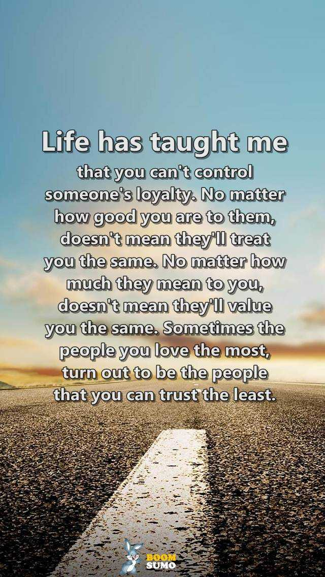 Inspirational life quotes Life has taught me How to be Control