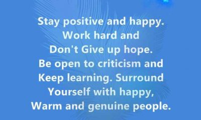 Positive Quotes About Life Stay Positive And Happy Dont Give Up Keep It