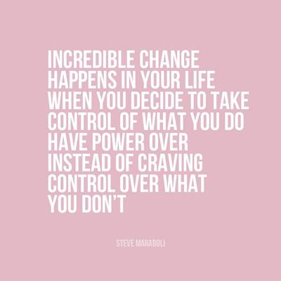 Inspirational Life quotes about being in control