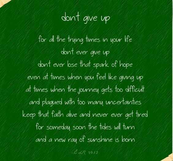 57 Dont Give Up Quotes About Life And Inspirational Sayings 5