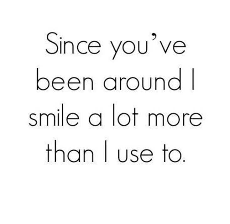 Cute Crush Quotes about smile lot more