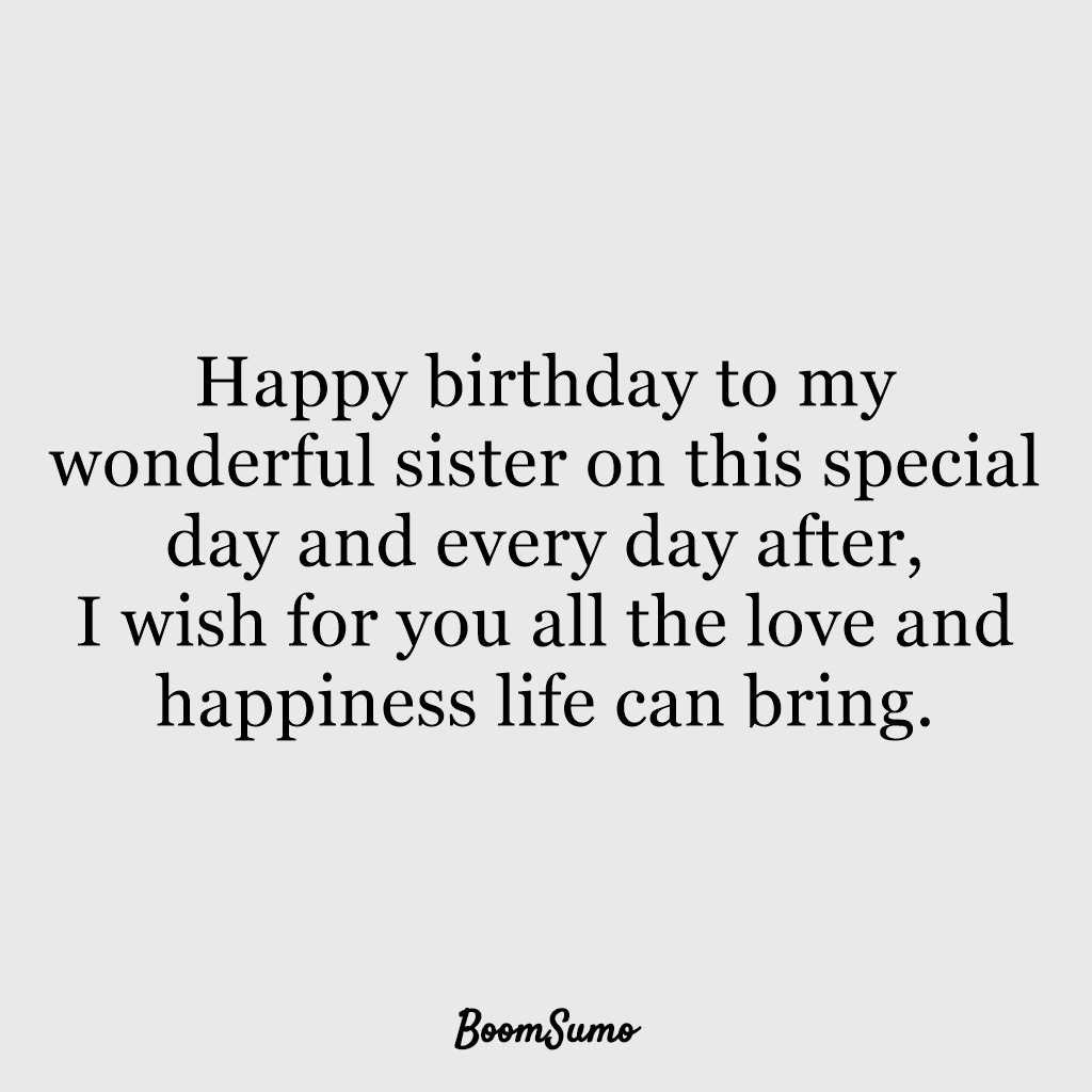 Surprising 110 Best Happy Birthday Sister Quotes Wishes Boom Sumo Funny Birthday Cards Online Unhofree Goldxyz