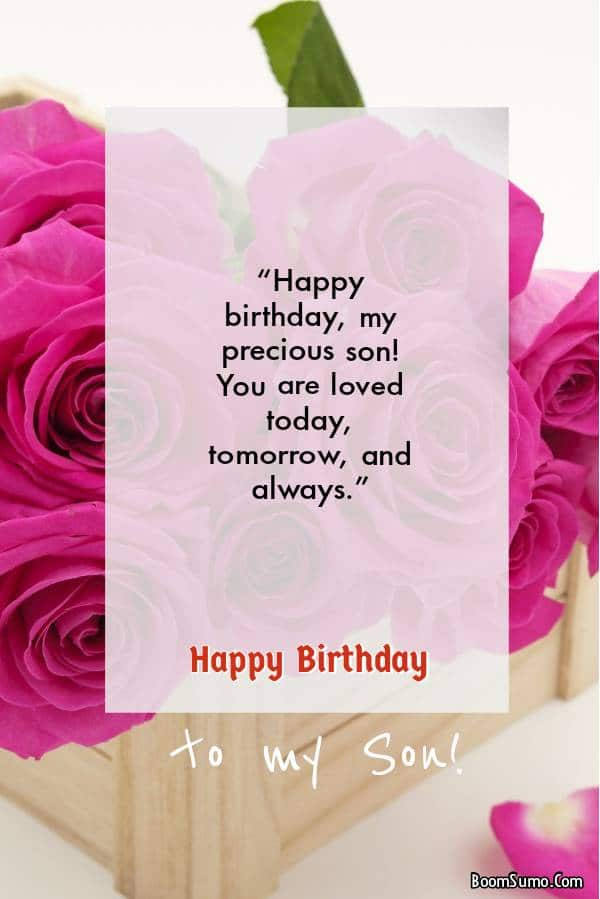 Birthday wishes for son to use on texts and chats