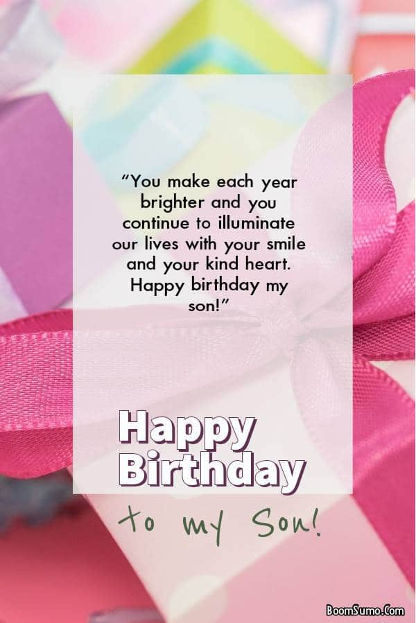 Short Birthday Messages For Your Son