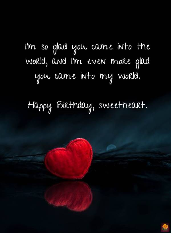 Adorable Images with Romantic Birthday Wishes