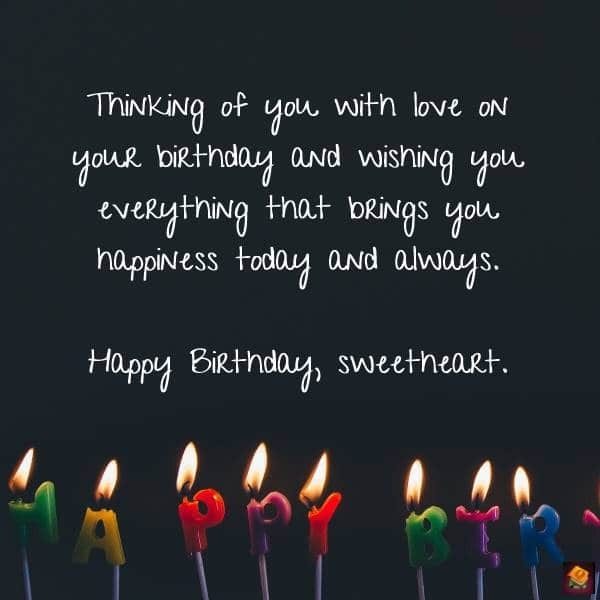 Romantic Birthday Wishes Quotes Birthday Messages