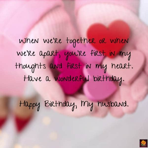 romantic birthday wishes for husband Birthday Messages