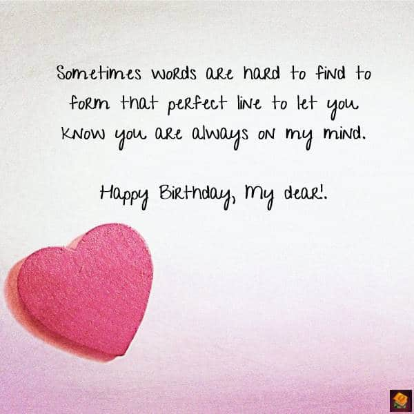 sweet and romantic birthday wishes for her