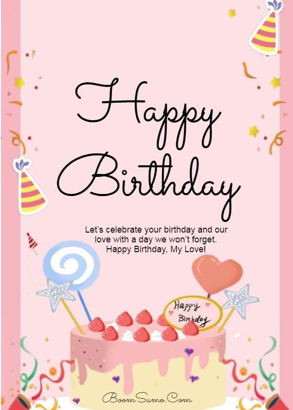 145 Best Happy Birthday Love Cute Romantic Birthday Wishes for Lovers | happy birthday to my love, happy birthday love quotes for him, happy birthday my love short quotes