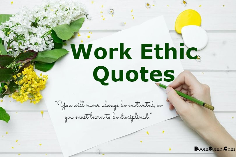 quotes about work ethic