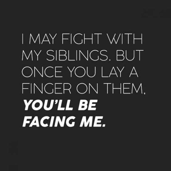 Short Funny Quotes About Siblings