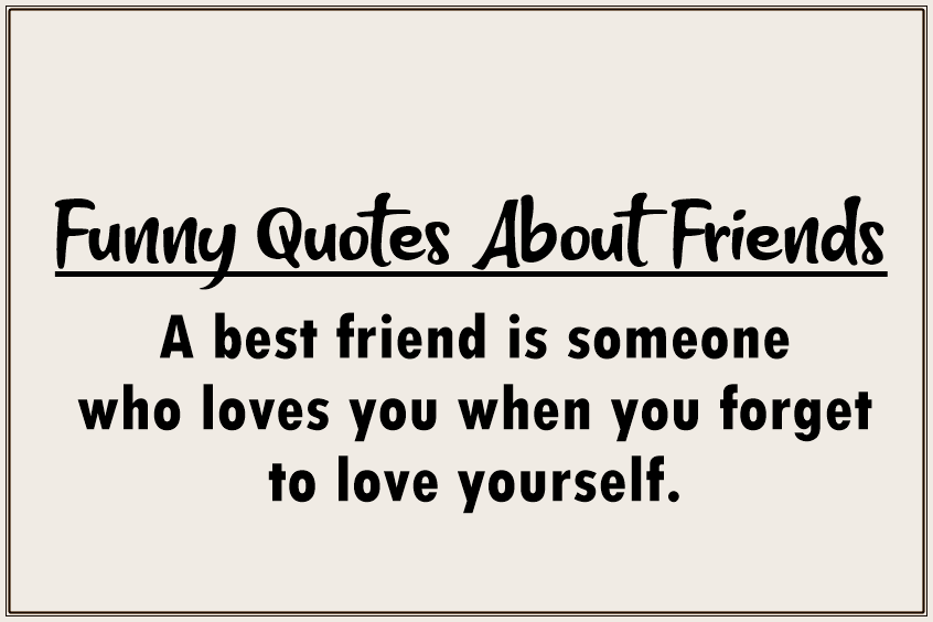 Best Funny Friendship Quotes For Best Friends