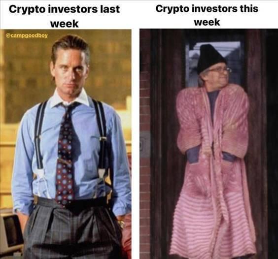 """Good Memes """"Crypto investors last week crypto investors this week"""""""