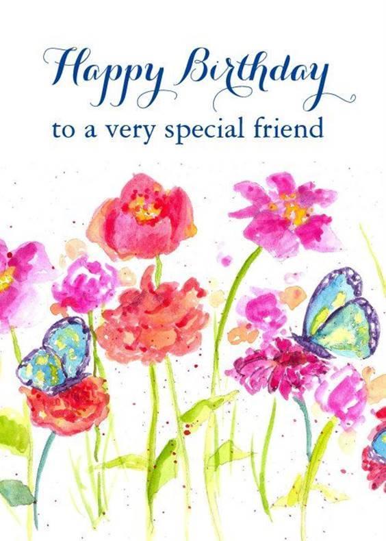 cute happy birthday flowers message