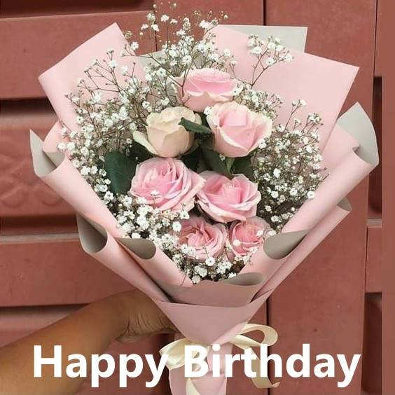 cute happy birthday flowers wishes