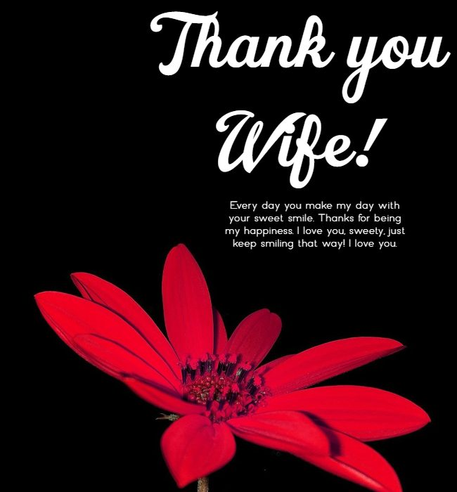 appreciation message to my wife