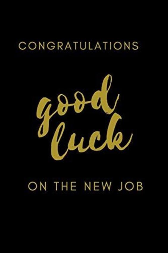 best wishes new job