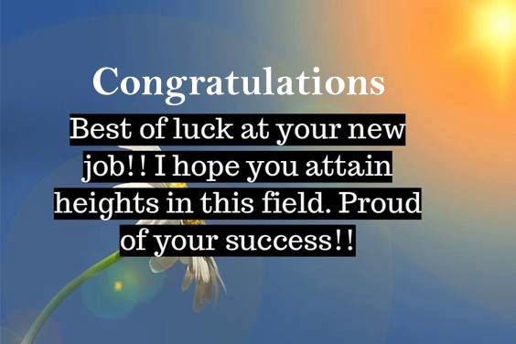 good luck new job message