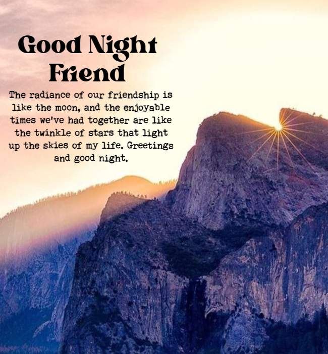 good night quotes on friendship