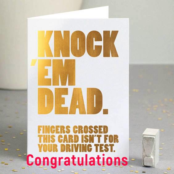 new job card greeting messages