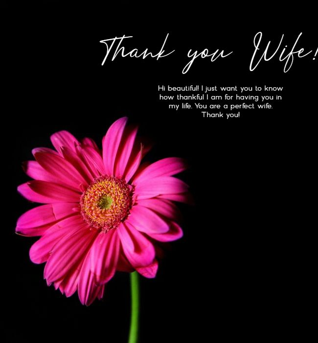 sweet thank you msg for wife