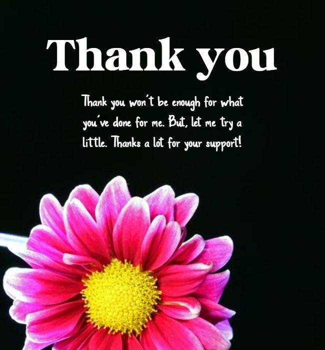 thank you message for support