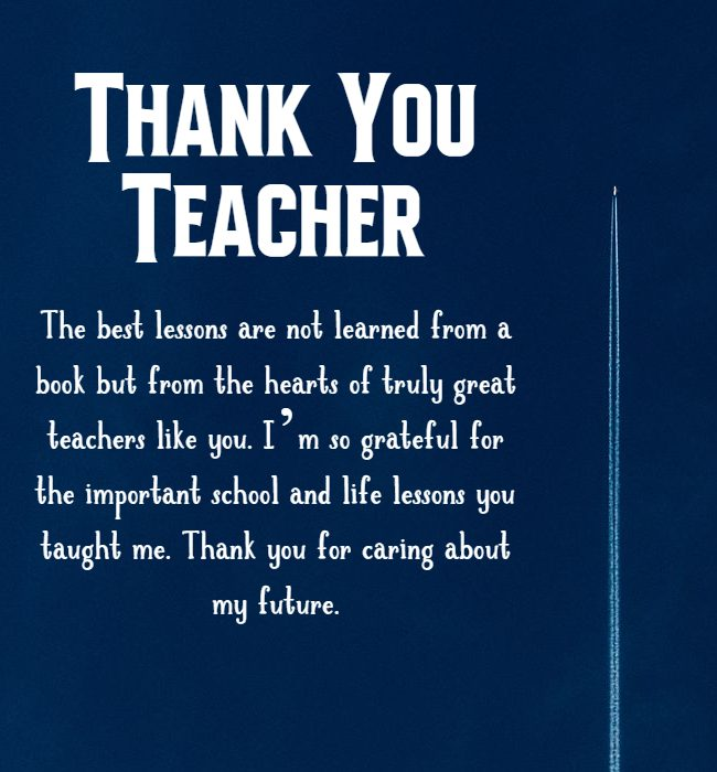 thank you teacher messages and wishes
