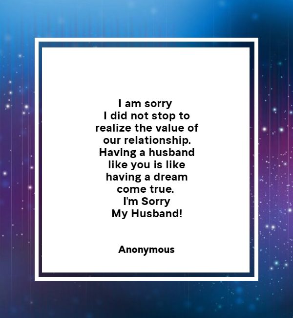 apology letter to husband