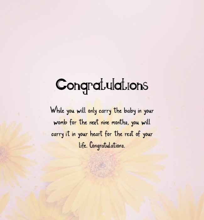 pregnancy is a great time to pregnancy congratulations message