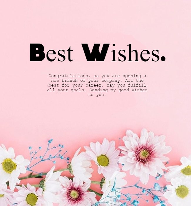 good luck wishes for new business